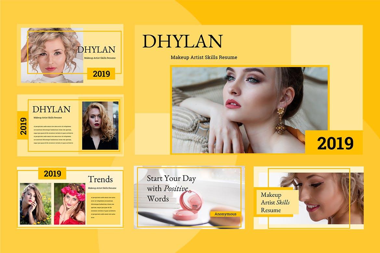 美容院市场营销策划主题幻灯片模板下载Dhylan Beauty Salon Keynote插图(1)