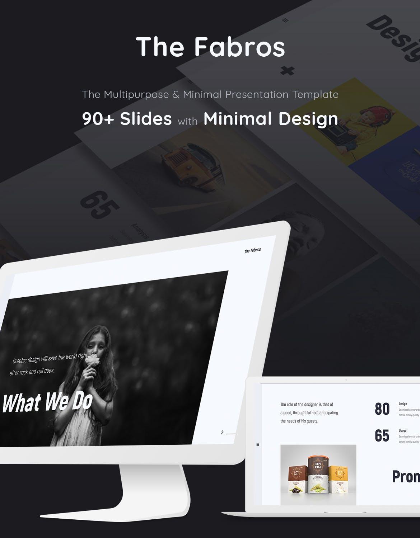 时尚潮流品牌电子商务幻灯片模板Fabros Creative Presentation Template (KEY)插图(1)
