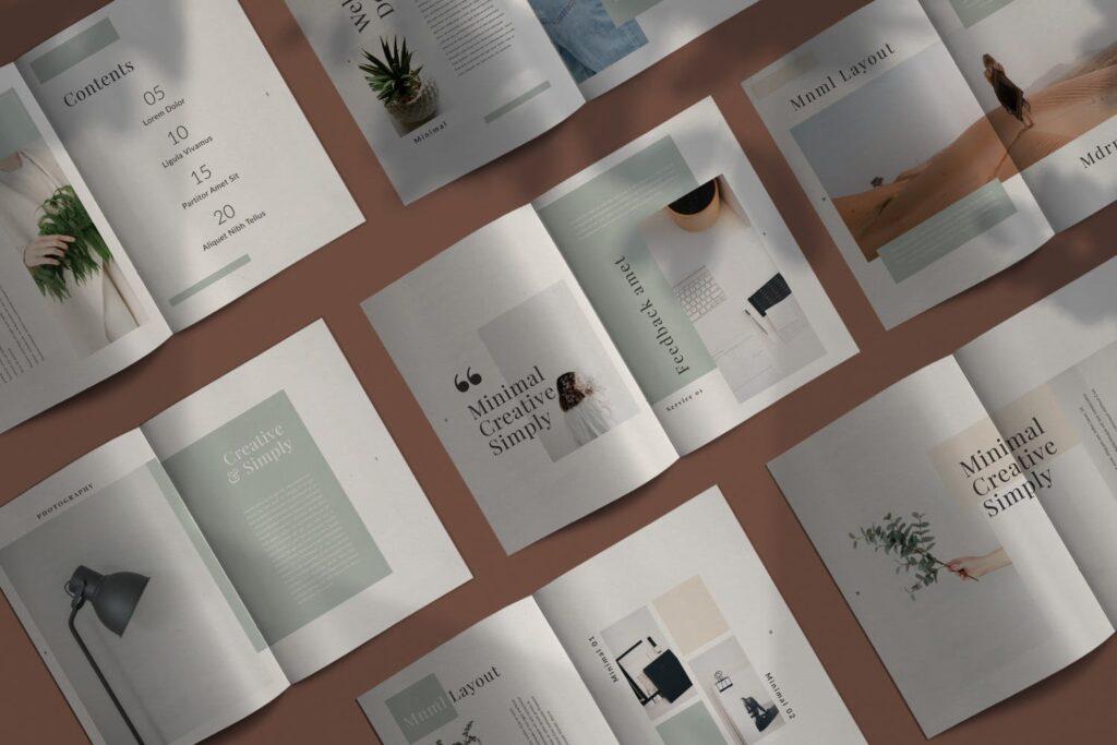 简约时尚工作室产品介绍主题画册模板Fairy Lookbook Brochure Business Company Xyuzvt6插图(1)