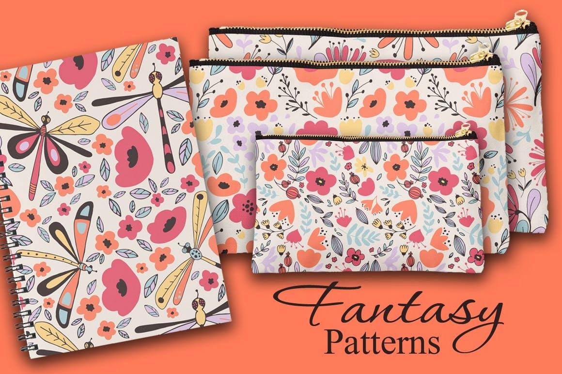 女性服饰品牌装饰图案/花纹素材Fantasy Flowers插图(1)