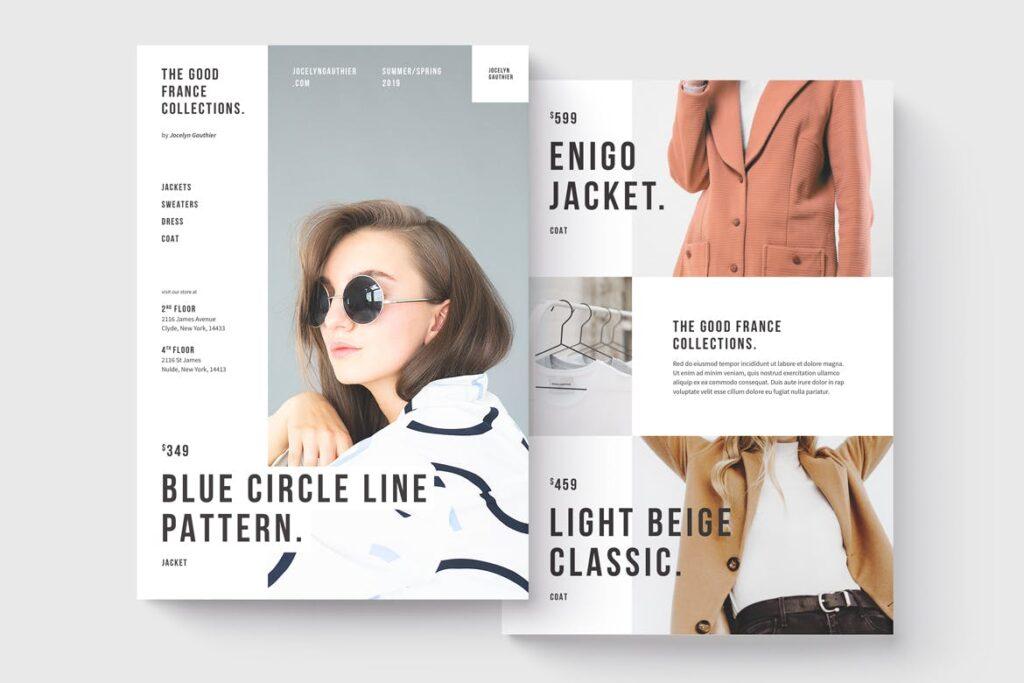 精致时装企业杂志画册模板素材Fashion Flyer Ptuvqe插图(1)