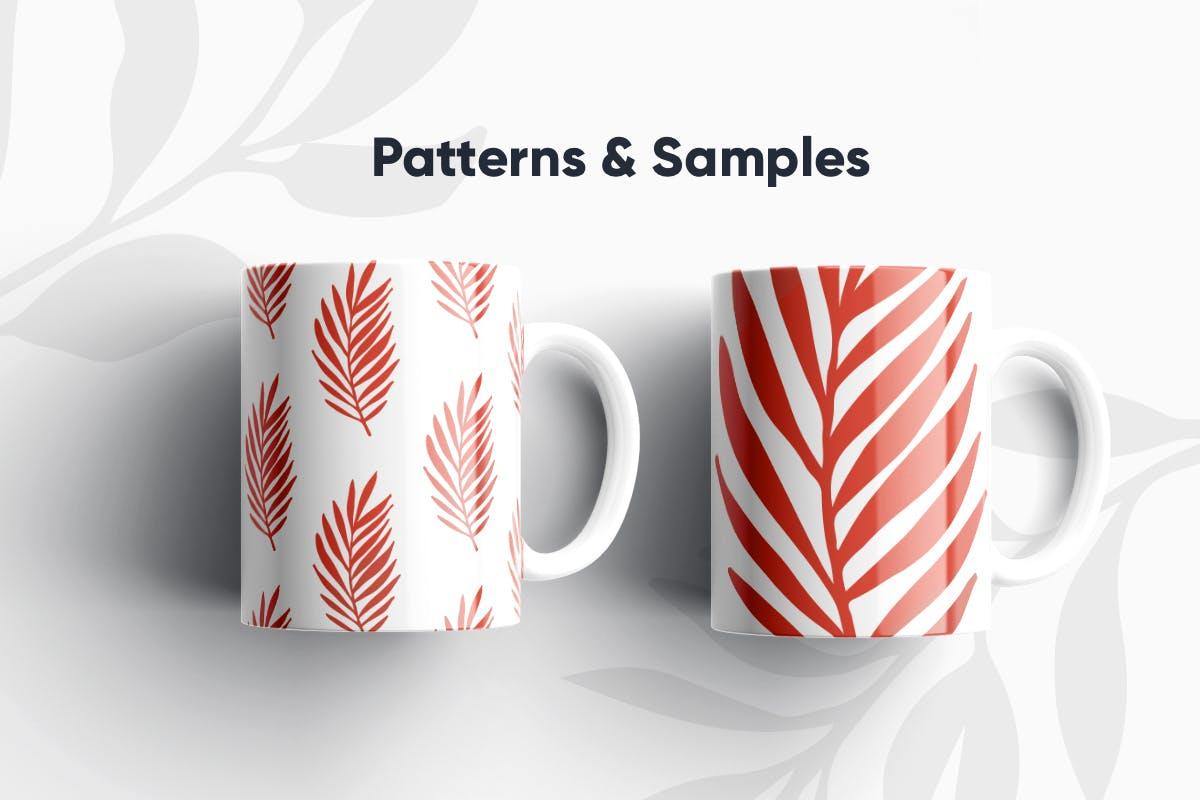 自然和花朵影响的艺术图案化妆品牌包装装饰图案Floral Backgrounds Patterns插图(1)