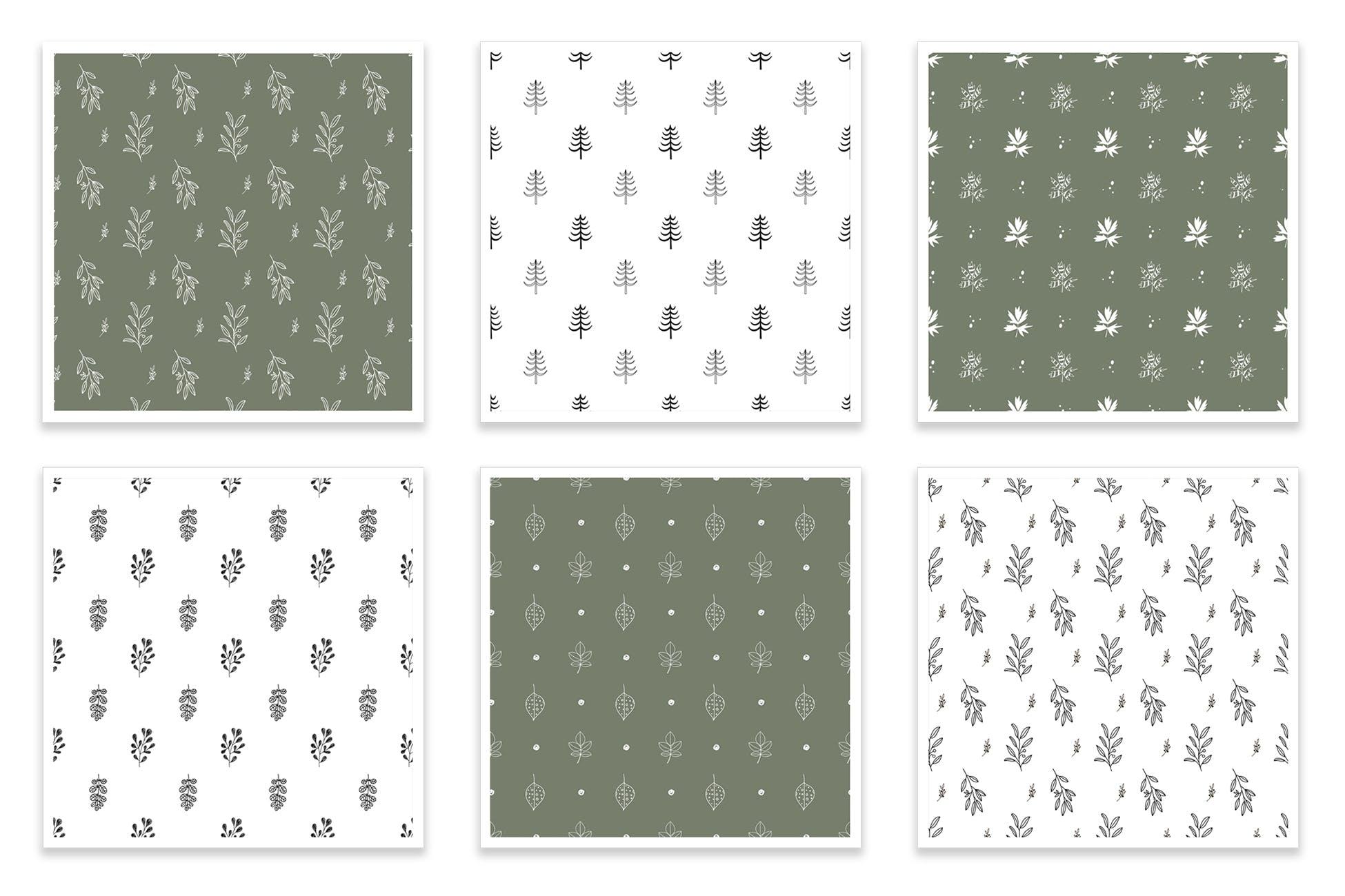 布艺创意装饰图案纹理素材下载Floral seamless patterns collection插图(1)