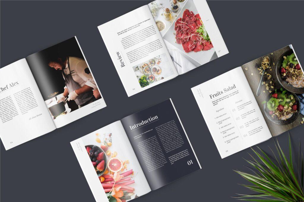 食品/餐饮类主题杂志模板Food Magazine Template Bdxvs4g插图(1)