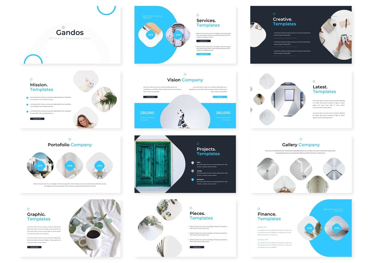 多用途行业企业策划模板PPT幻灯片模板Gandos Keynote Template插图(1)