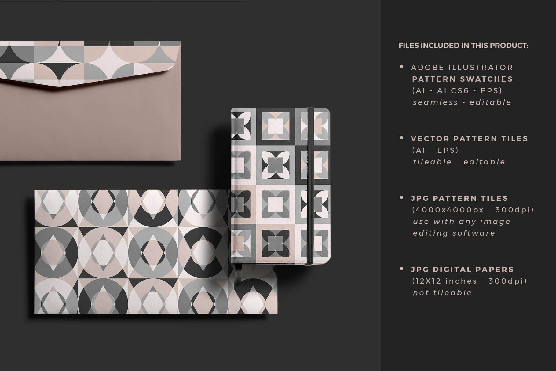 布艺面料装饰纹理图案花纹品牌辅助图形Geometric Play Patterns Tiles插图(1)