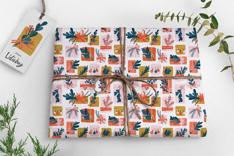 礼盒创意适量装饰图案花纹素材花纹Gift Box插图(1)