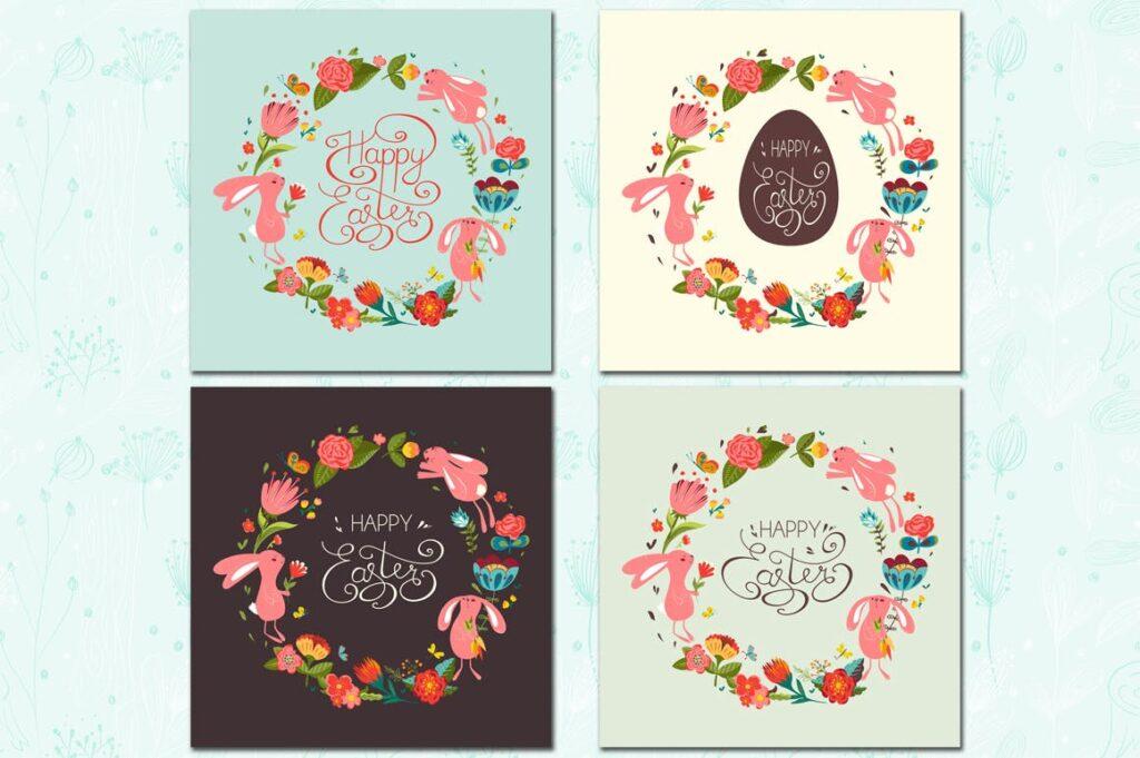 复活节贺卡装饰图案和海报纹理图案Happy Easter插图(1)
