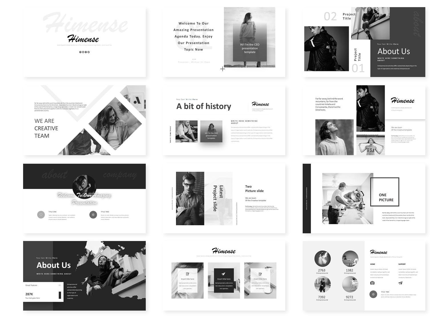 多用途企业业务演示PPT幻灯片模板Himense Google Slides Template插图(1)