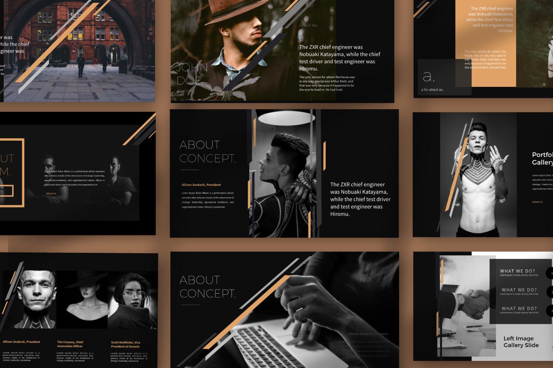 时尚品牌产品发布会PPT幻灯片模板IRISH Brown Keynote插图(1)