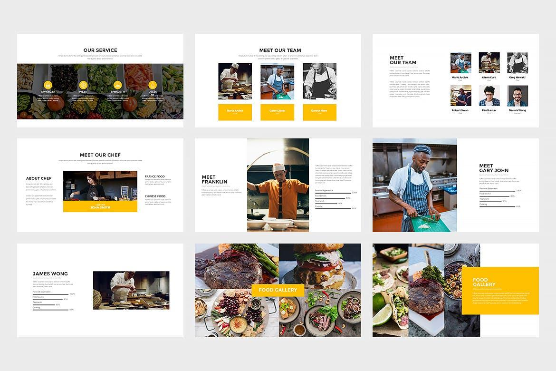 西餐美食料理主题餐厅品牌幻灯片模板Innodafood Keynote Presentation插图(1)