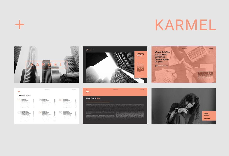 跨国企业品牌主题介绍幻灯片模板Karmel Keynote插图(1)