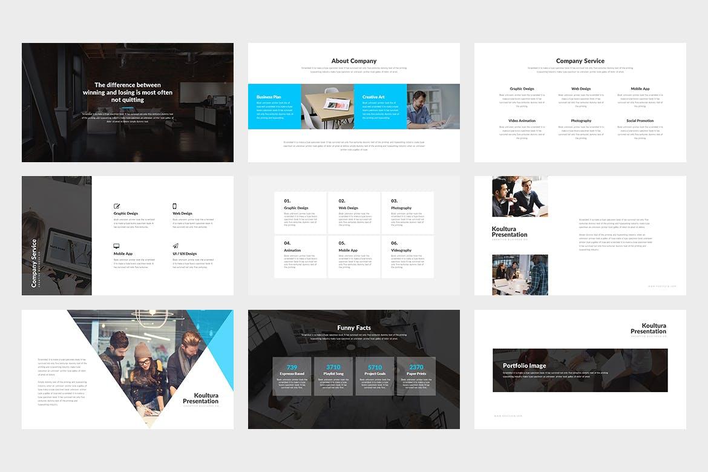 企业商务演示文稿模板原文件下载Koultura Powerpoint Presentation插图(1)