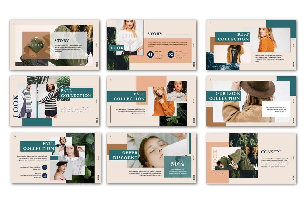 极致简洁暖色系品牌宣传PPT幻灯片模板Look Keynote Template插图(1)