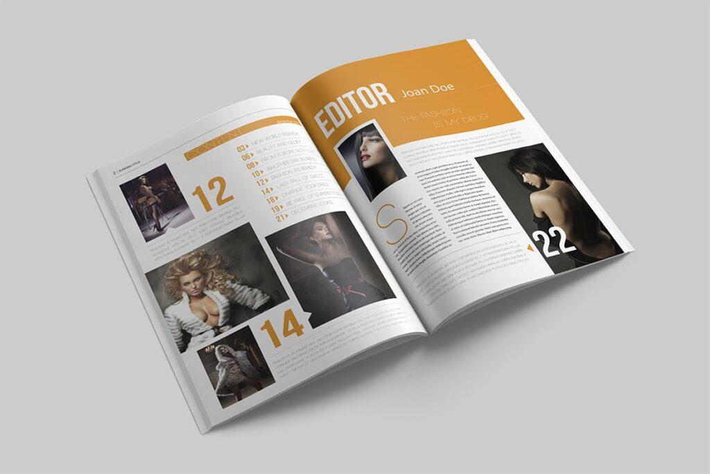 写真集/采访/画廊主题杂志模板下载Magazine Template 6N4PTQJ插图(1)