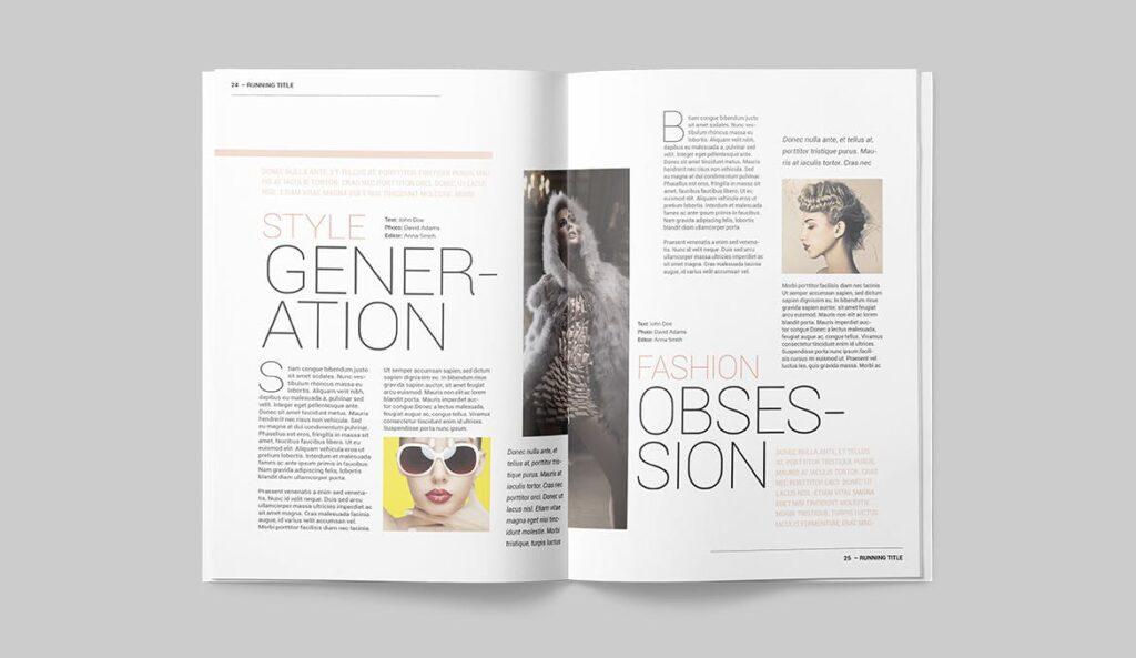 时尚潮流/画廊主题杂志模板Magazine Template SLCJBWR插图(1)