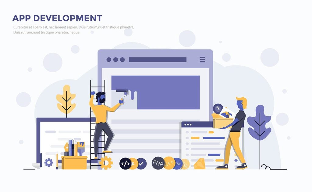 企业市场销售数据汇报场景插画素材下载Modern Flat design people and Business concepts Kxhba7插图(2)