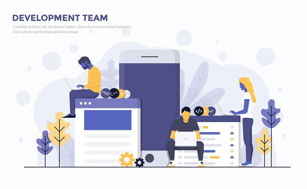 多场景应用主题扁平化插图创意设计Modern Flat design people and Business concepts 2插图(1)