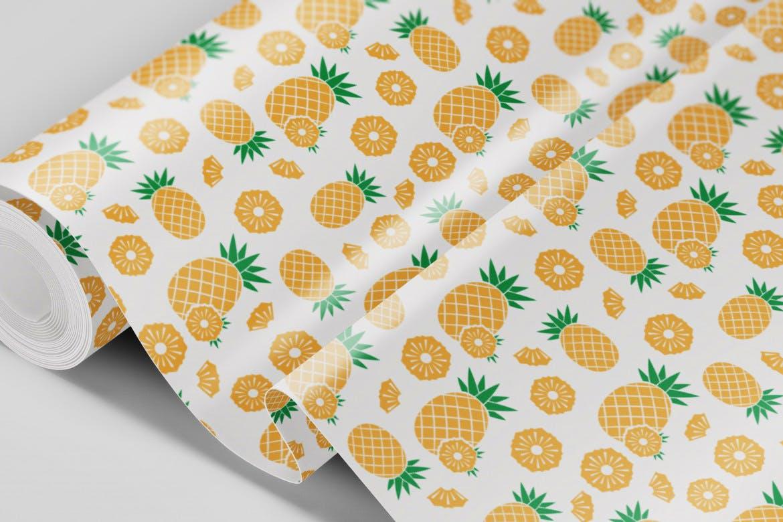 餐饮品牌包装装饰图案水果创意插画元素下载Natural Fruit Juices Seamless Patterns Vol 2插图(1)