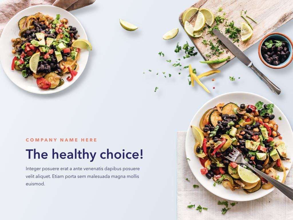 西餐料理品牌新菜品介绍PPT幻灯片模板Nutritious PowerPoint Template插图(1)