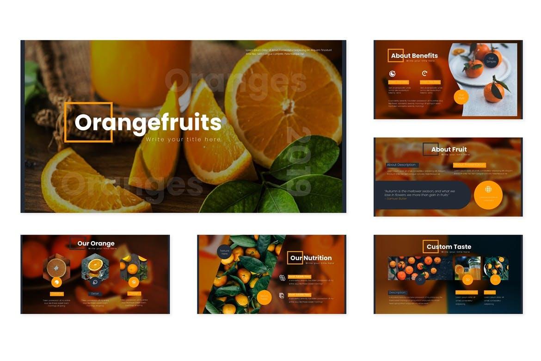 多用途演示模板宣讲主题演讲PPT幻灯片模板Oranges Google Slides Template插图(1)