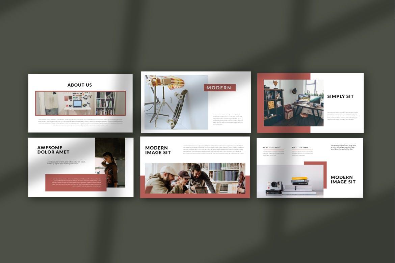 企业市场策划提案PPT幻灯片模板PUDGE Google Slide插图(1)
