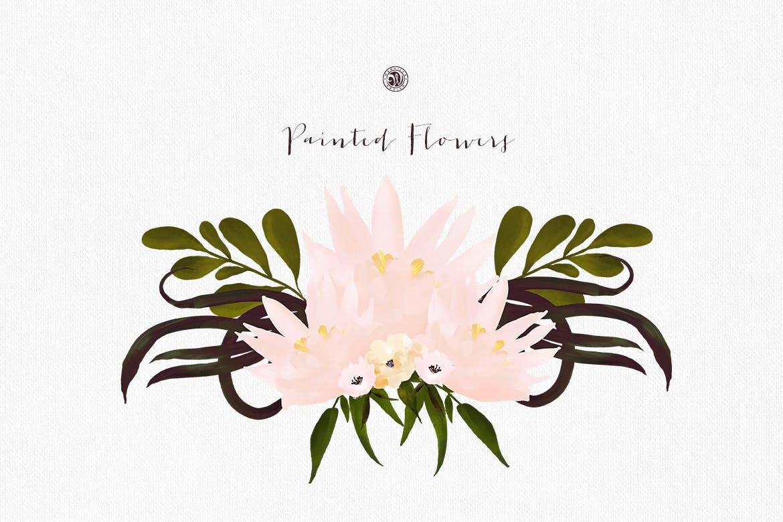 彩绘花卉品牌手提袋包装装饰图案素材Painted Flowers插图(1)