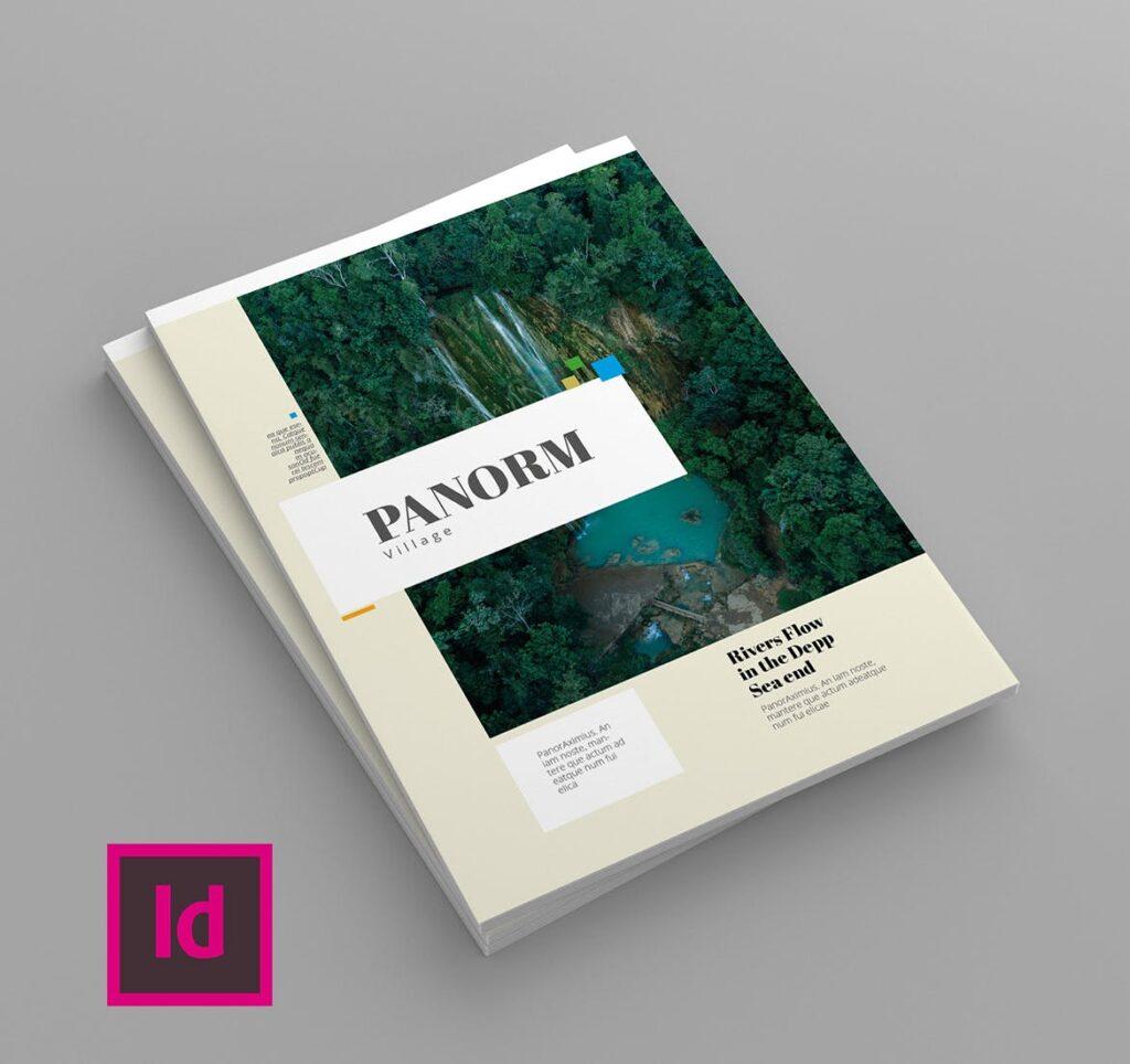 大自然主题/森林/旅游主题杂志模板Panorm Magazine Template插图(1)