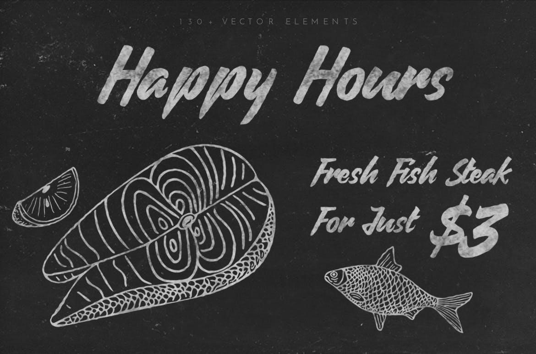 美食餐饮品牌宣传手绘矢量图案素材Ratatouille Sketched插图(1)