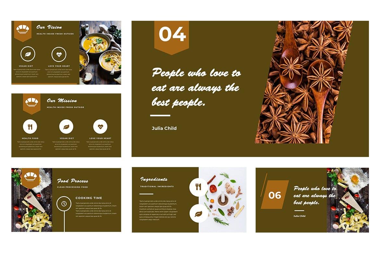 美食餐饮类幻灯片文稿展示Resto Powerpoint Presentation插图(1)