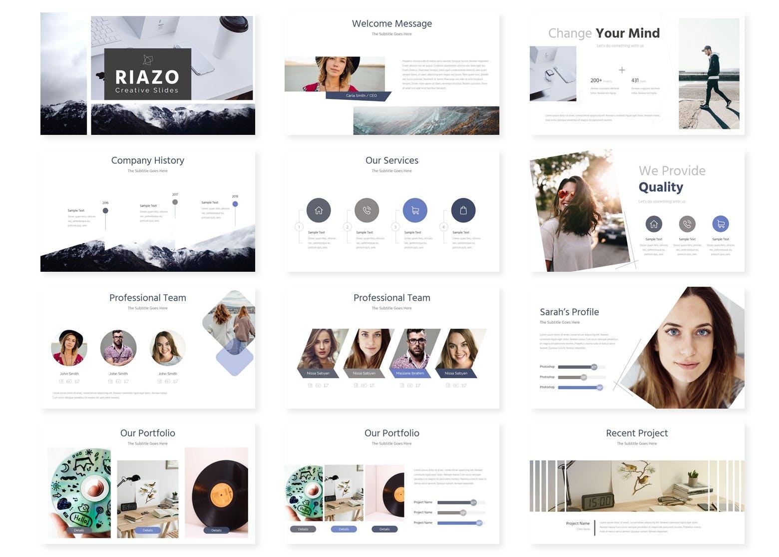 企业多用途演示文稿模板Riazo Google Slide Template插图(1)