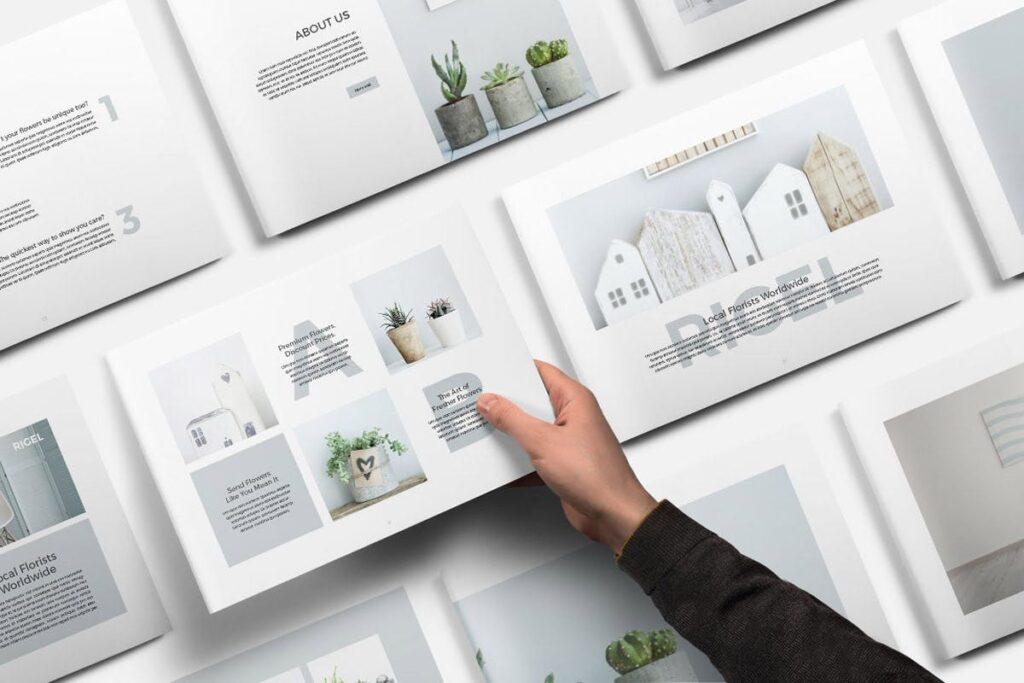 简约绿植居家生活类画册模板Rigel Brochure Template插图(1)