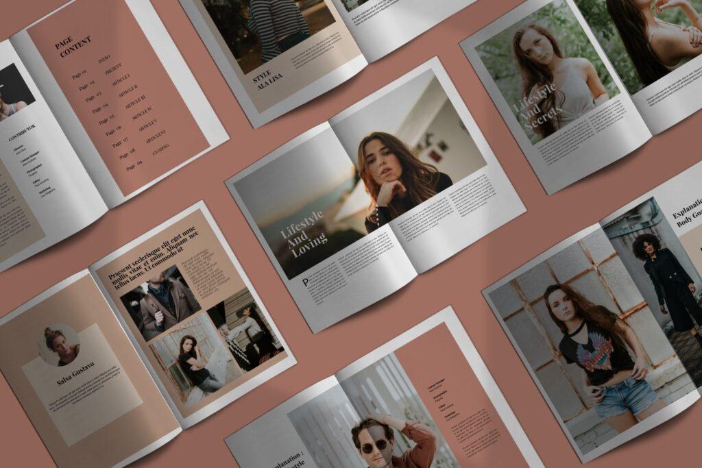 设计师工作室内设计目录/产品目录画册模板Styling Fashioned Brochure插图(1)