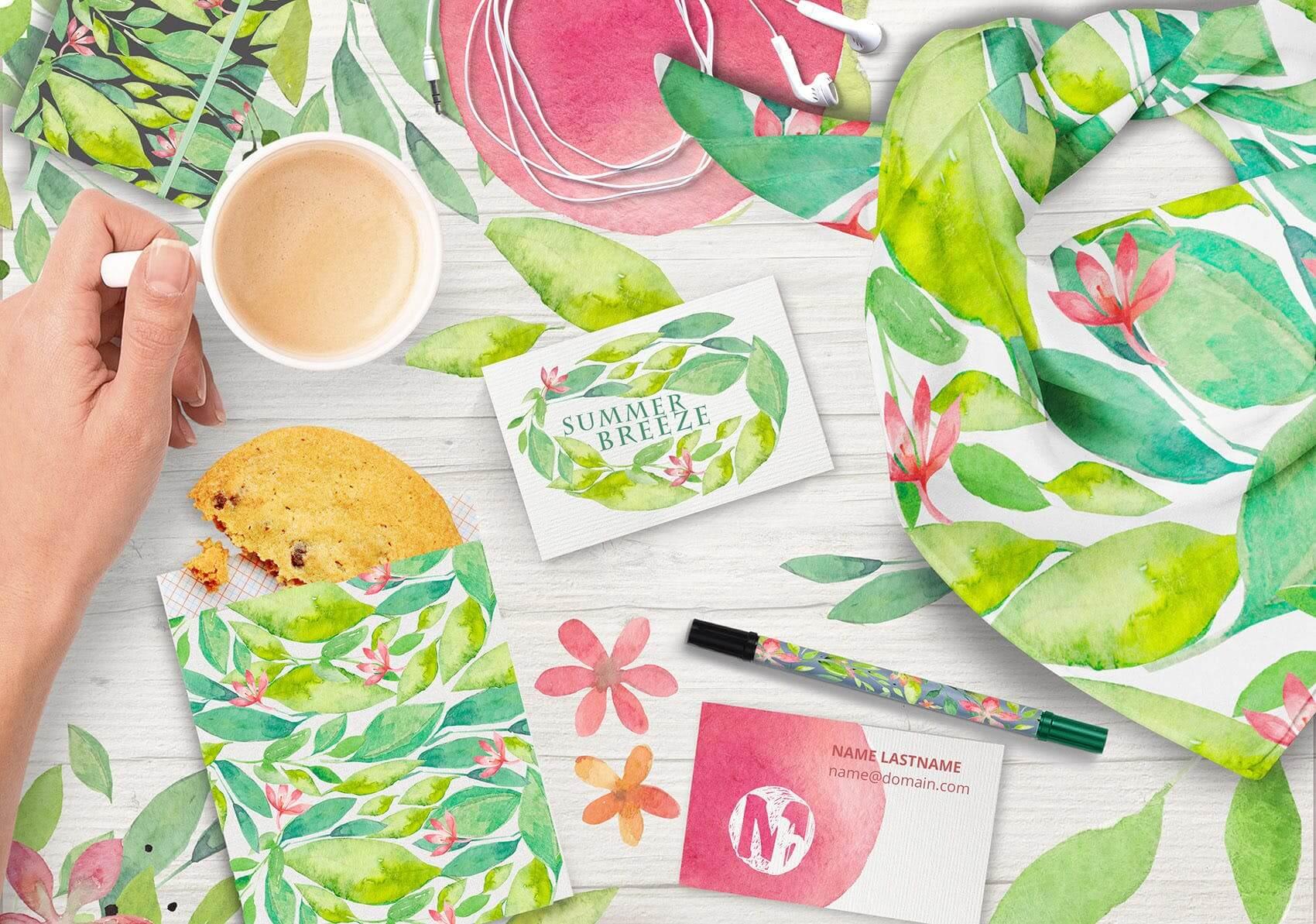夏季素材鲜花素材装饰排列合集THE SUMMER BREEZE插图(2)