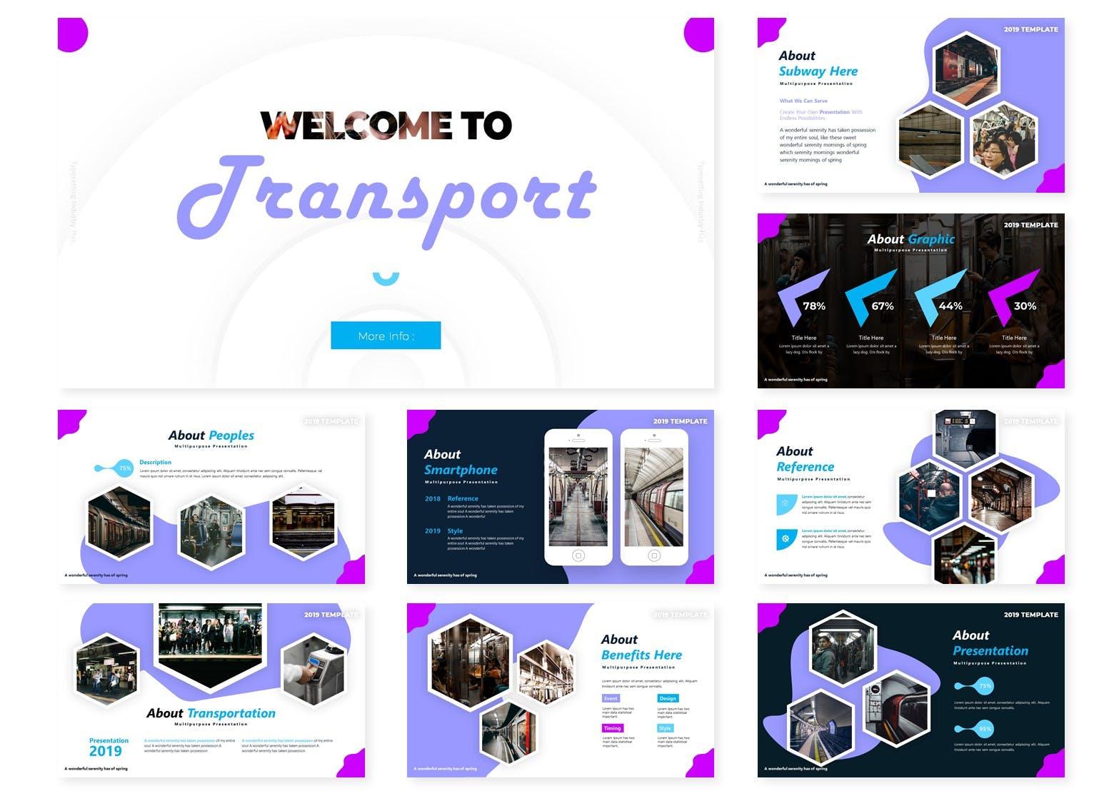 互联网融资企业路演宣讲PPT幻灯片模板Transport Powerpoint Template插图(1)
