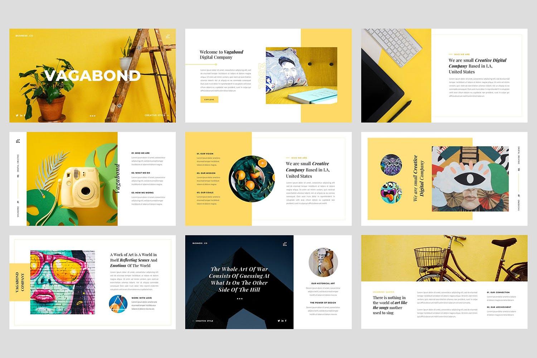创意工作室案例介绍Vagabond Creative Business Google Slides插图(1)