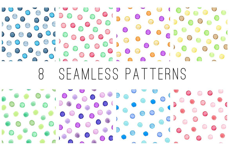 水彩墨迹笔触装饰元素下载Watercolor Textures and Patterns插图(1)