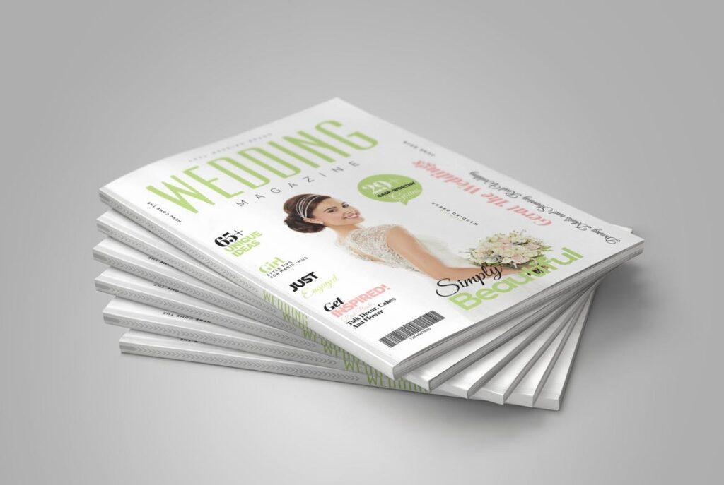 文艺精致版式环保主题婚礼杂志模板Wedding Magazine Template插图(1)
