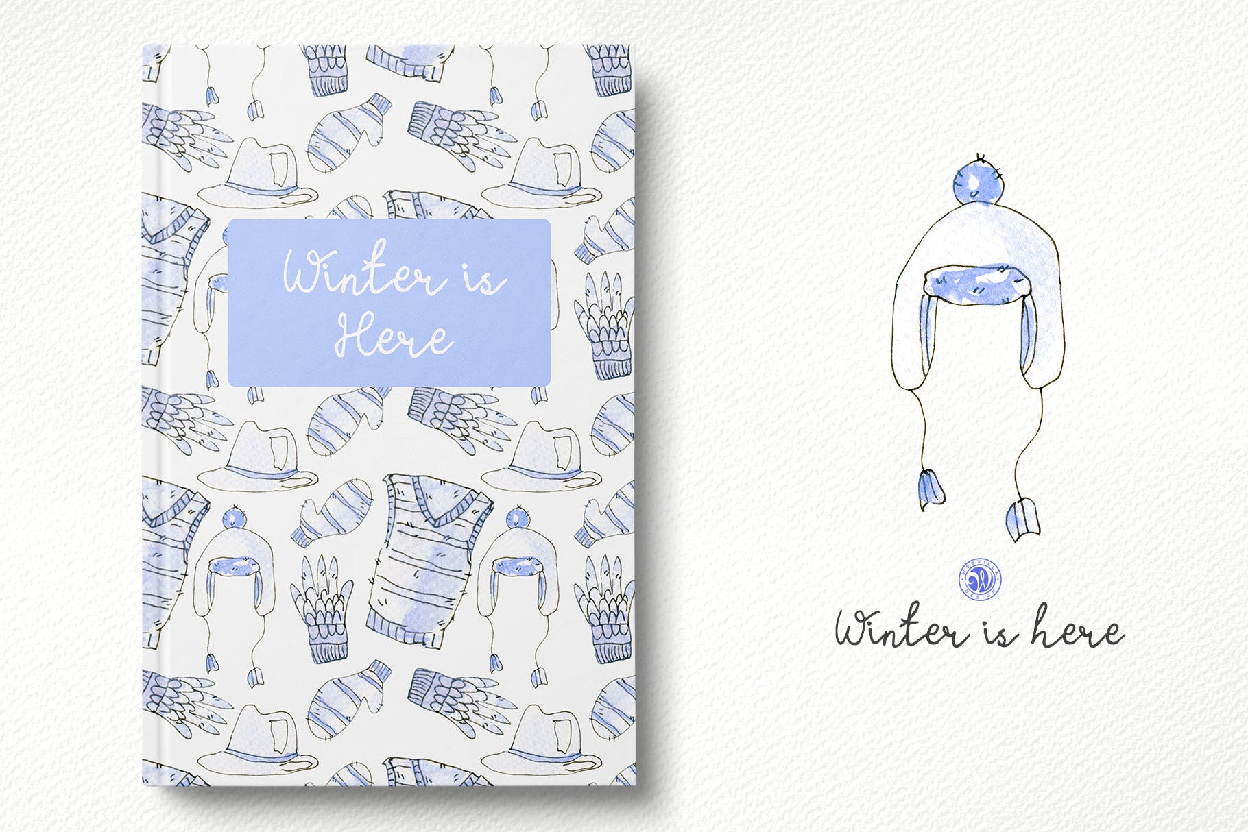 冬季手绘元素插图品牌装饰元素素材Winter is here插图(1)