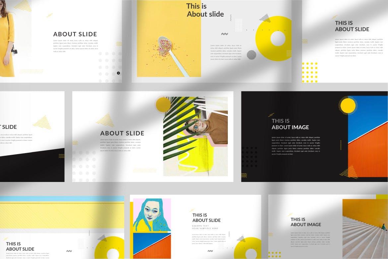 欧美风素材模板演示文稿模板Yellow Creative Keynote插图(1)