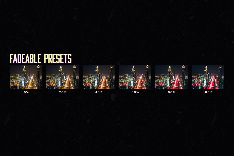 10个城市夜景调色预设照片效果处理LR预设10 Cyberpunk Lightroom Presets LUTs插图(3)