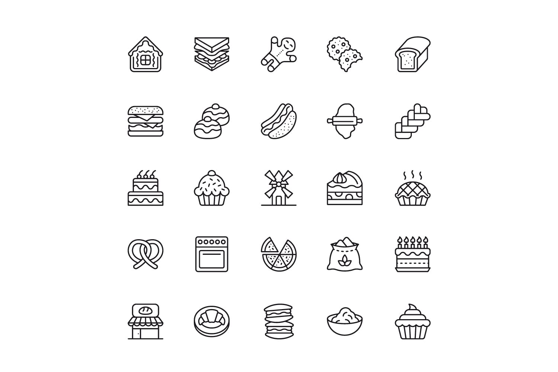 150个线性图标设计源文件下载150 Line Icons插图(2)