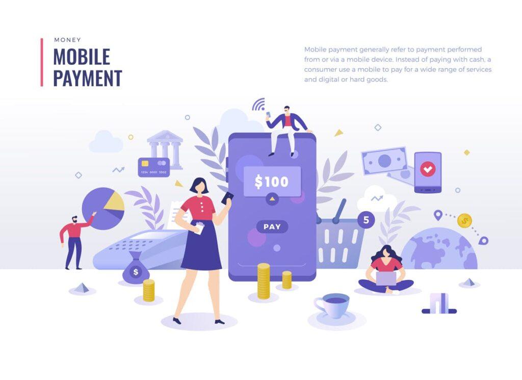 金融货币扁平风场景创意插图4 Money Finance Flat Illustration Concepts插图(2)