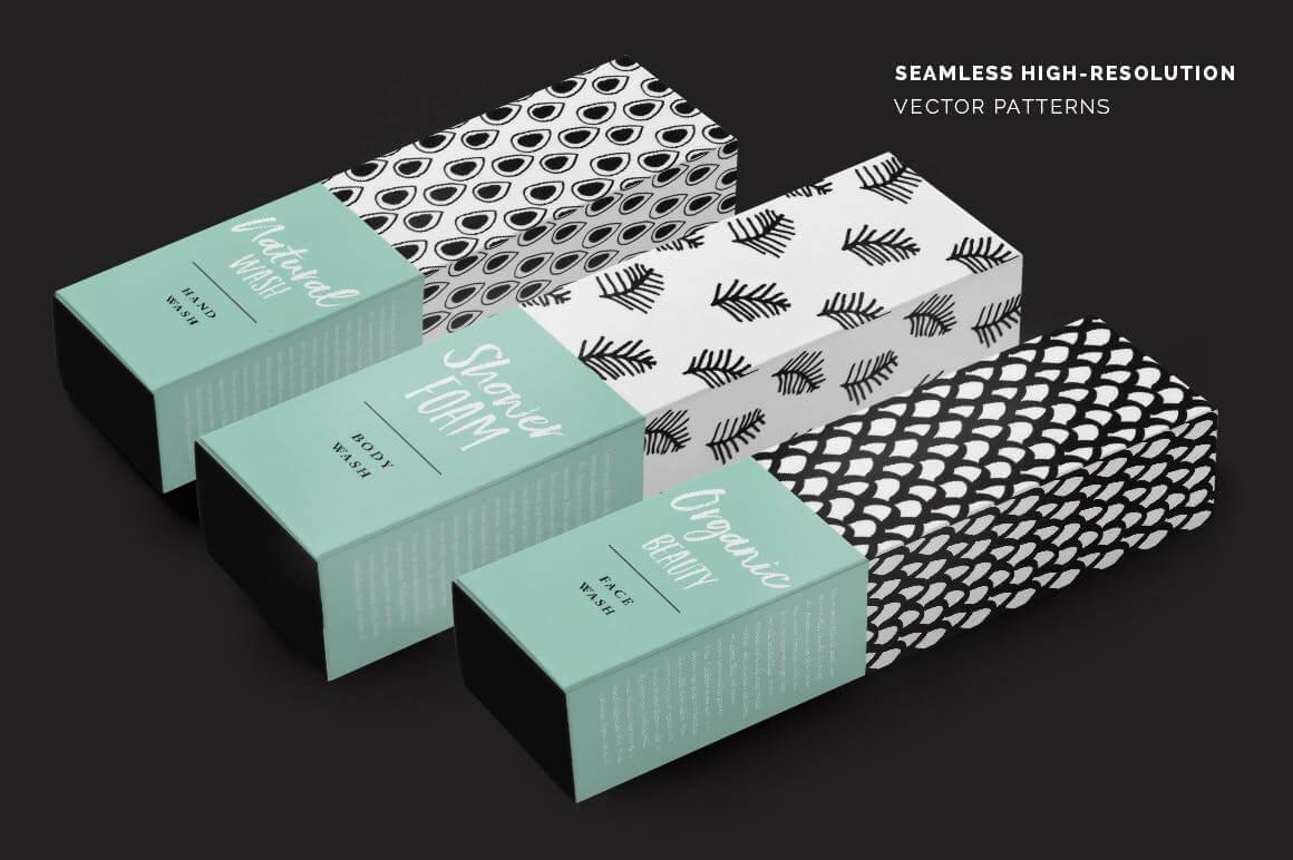 品牌服装VI品牌装饰图案纹理素材装饰图案Abstract Seamless Patterns插图(2)