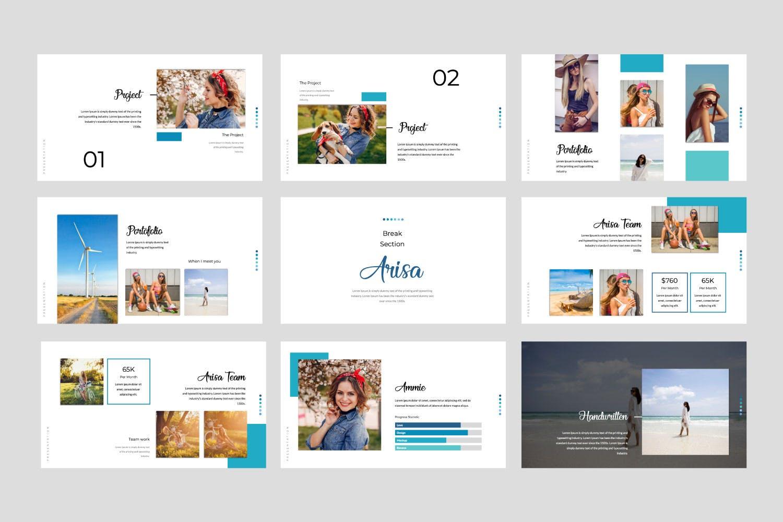 多用途主题演讲模板PPT幻灯片模板下载Arisa Google Slide Presentation Template插图(2)