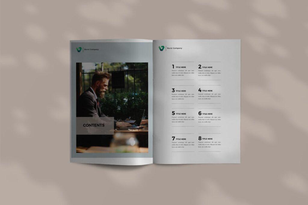 工作室产品介绍画册模板BURST Brochure Corporate插图(2)