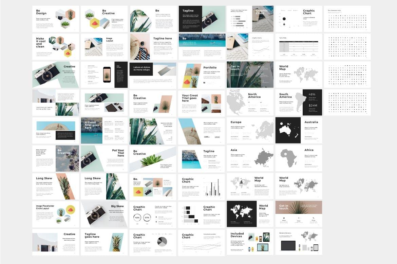 市场活动策划/销售数据PPT幻灯片模板下载Be Google Slides Template插图(2)