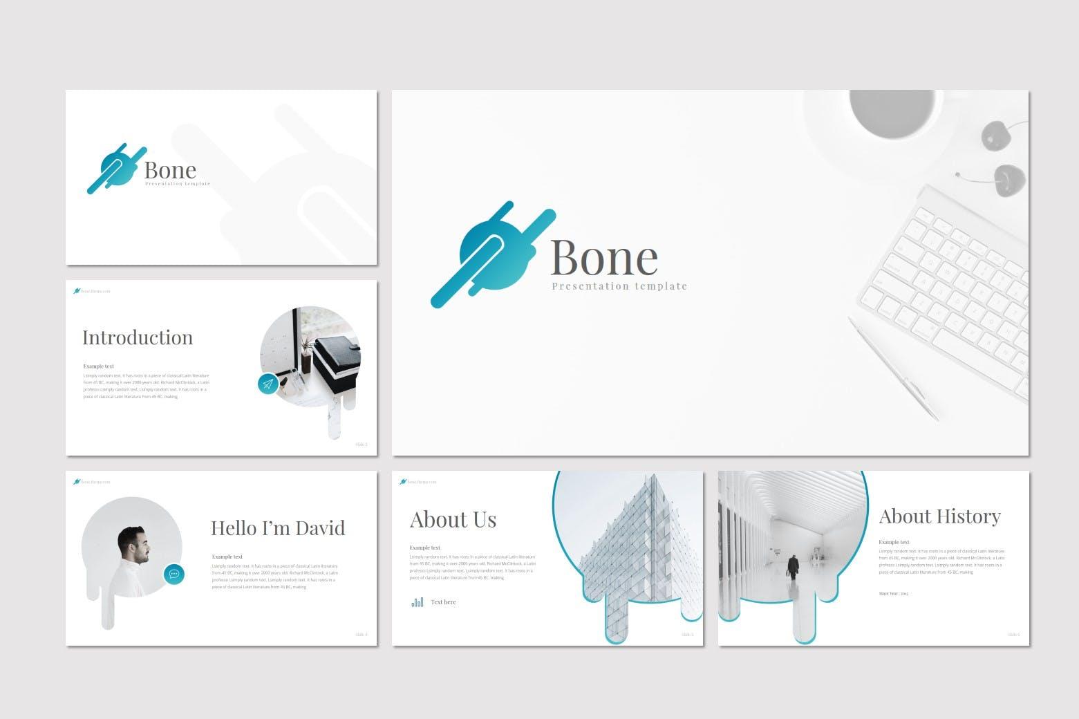 企业业务演示PPT幻灯片模板Bone Powerpoint插图(2)