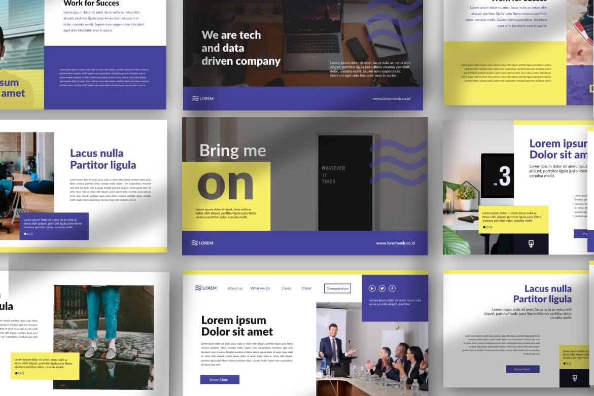 市政工程类项目汇报创意多用途模板设计PPT幻灯片模板Bringmeon Google Slide插图(2)