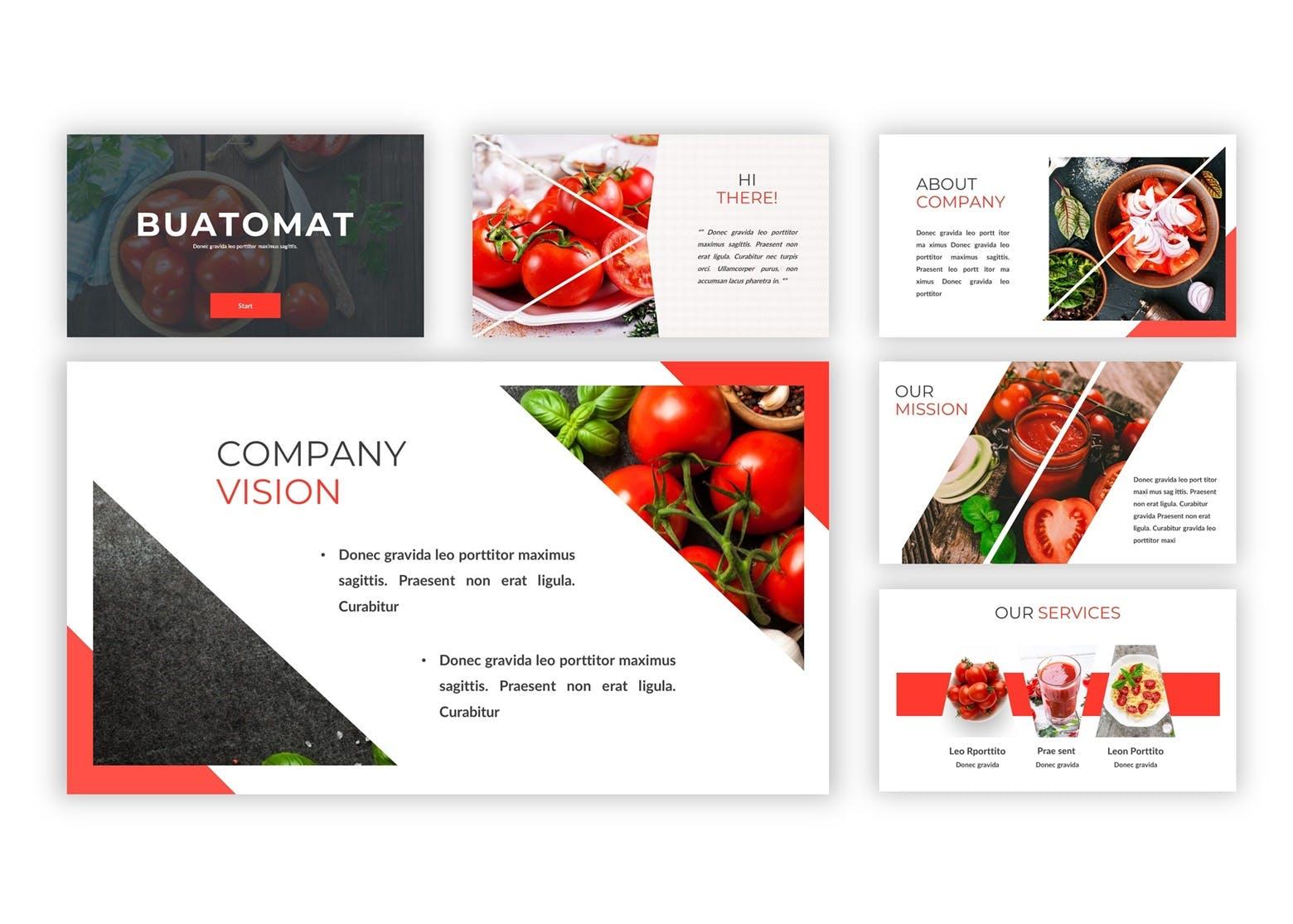 水果料理茶品幻灯片模板下载Buatomat Keynote Template插图(2)